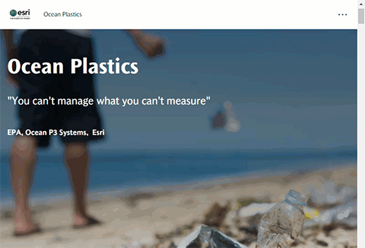 This image shows the story of ocean plastics.