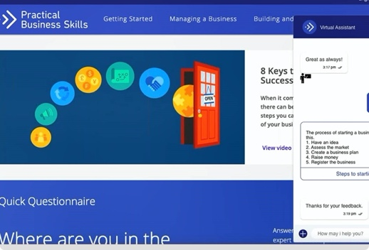 Screenshot of the Practical Business Skills website