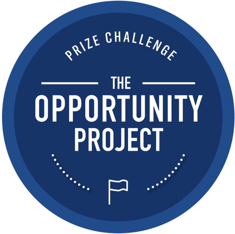 Illustration of a blue circle around text which says The Opportunity Project